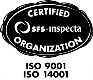 ISO 9001 and 14001 logo