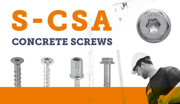 Improved Sormat S-CSA concrete screws